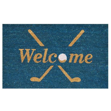golf doormat home more golf welcome door mat 17 in x 29 in