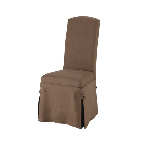 linen chair cover in taupe maisons du monde