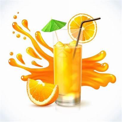 Juice Orange Vectors Vector