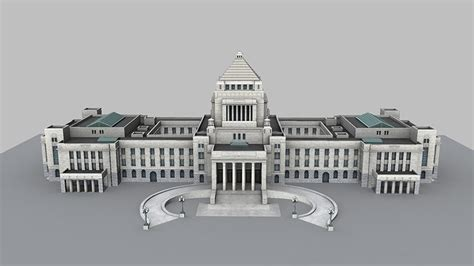 national diet building  cgtrader