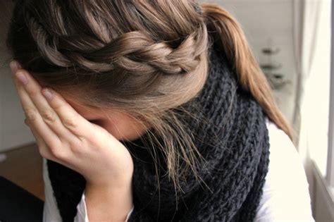 Pretty Hair Girl Cute Scarf Braid Ponytail