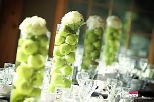 apple wedding centerpieces with green flowersWedWebTalks ...