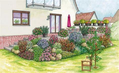 Terrasse Tiefer Als Garten by Bepflanzung B 246 Schung Terrasse