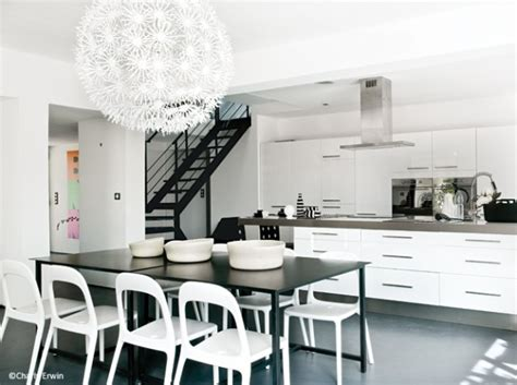 modele cuisine noir et blanc deco cuisine noir et blanc