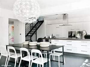 deco cuisine noir et blanc With modele cuisine noir et blanc