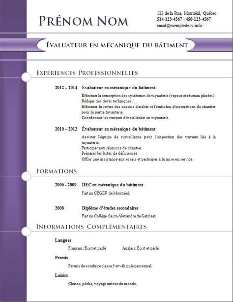 Cv Vierge by Modele Cv Vierge Cv Anonyme