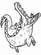 Crocodile Coloring Pages Alligator Animals Drawing Printable Sheet Colorings Getcolorings Getdrawings Clipartmag sketch template
