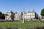 Luxembourg palace, Paris. stock image. Image of outdoor ...