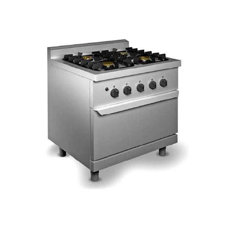Cucina Professionale 4 Fuochi Con Forno A Gas