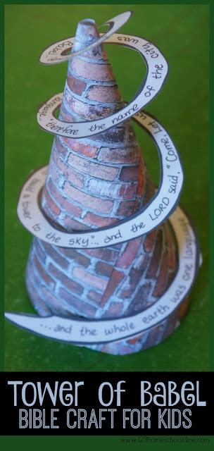 tower of babel craft for 123 homeschool 4 me 790 | fea 1