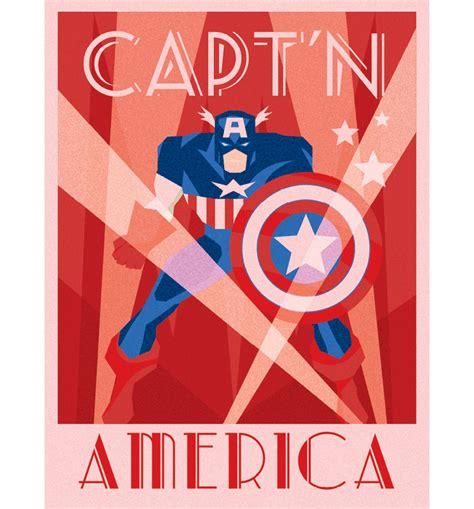 marvel comics captain america deco canvas print 30 x 40cm