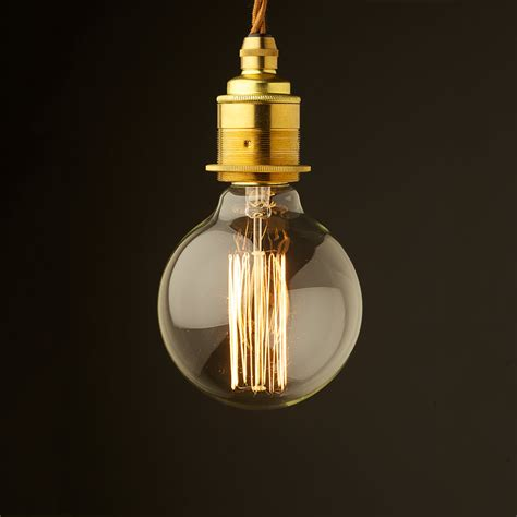 edison style light bulb and e27 new brass fitting