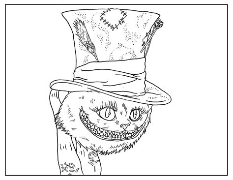 Alice Wonderland Coloring Pages - Costumepartyrun