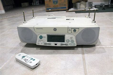 under cabinet radio cd player with light ge spacemaker stereo digital am fm cd player w counter