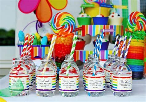 karas party ideas rainbow easter hop girl boy colorful