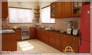interior decoration in kitchen 3d interior renders kerala home design and floor plans