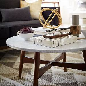 reeve mid century coffee table marble west elm round With west elm square coffee table