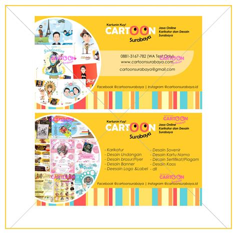 contoh hasil desain kartu nama cartoon surabaya 2 sisi cartoon surabaya