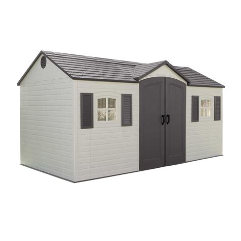 storage sheds costco lifetime side entry 15 ft w x 8 ft d plastic storage