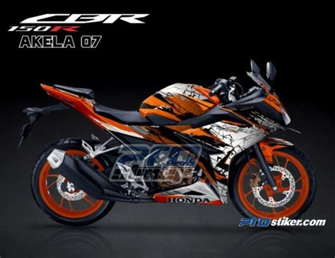 Gambar Hd Desain Sticker 3d Motor Cbr by Modifikasi New Cbr 150r K45g Warna Orange Repsol