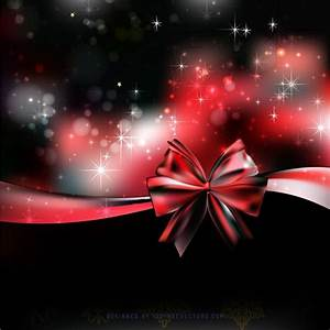 Red Black Christmas Bow Background Graphics | Christmas ...