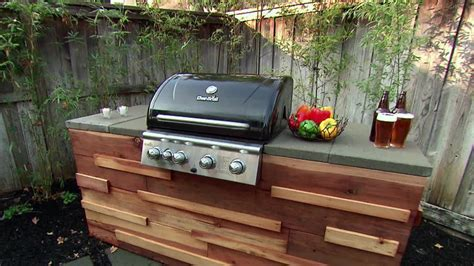 Island Grill by Build A Barbecue Grill Island From Redwood Posts And Paver
