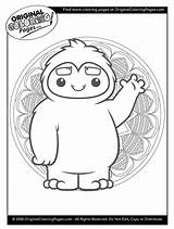 Yeti Coloring Pages Snow Quiz Fun sketch template