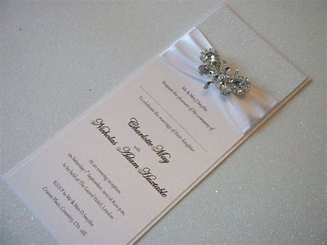 handmade couture wedding invitations crystal butterfly