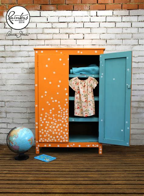 Annie Sloan • Paint & Colour Beau Ford's Spotted Wardrobe