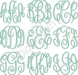 monogram letter circle monogram embroidery font digistitches machine