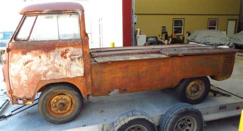 1960 Volkswagen Vw Single Cab Dropgate Pickup Truck Great