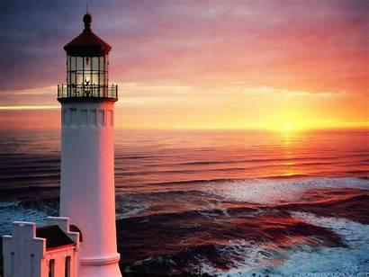 Lighthouse Sunset Wallpapers Background Desktop Lighthouses Principle