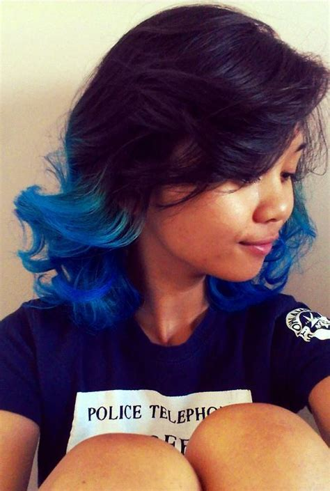 Blue Tips ♥ And Is That A Tardis Shirt I See Hair