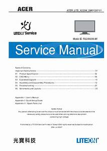 Acer X223w Sm Service Manual Download  Schematics  Eeprom