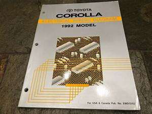 1992 Toyota Corolla Wiring Diagrams Electrical Service
