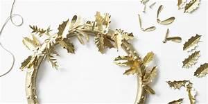 Faire Une Couronne De Noel : fabriquer une couronne de no l avec des attaches parisiennes marie claire ~ Preciouscoupons.com Idées de Décoration