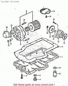 Suzuki Gsx750 1980  T   E01 E02 E06 E22 E24  Oil Pump