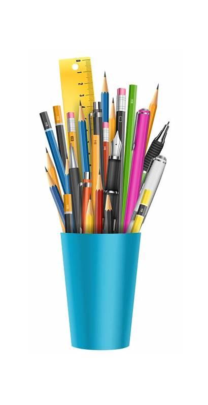 Pen Clipart Holder Pencil Saman Clip Cup
