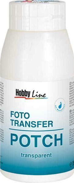 foto transfer kleber foto transfer potch 750 ml papier und karton