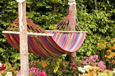 Hammock Between Trees by 38 Lazy Day Backyard Hammock Ideas