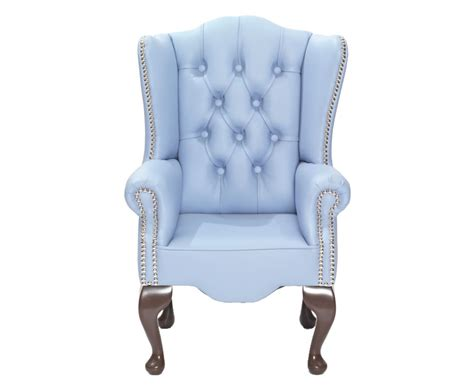 amerigo sky blue faux leather childrens chair uk delivery