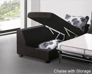 Modern sectional set with sleeper sofa and storage chaise for Sectional sofa bed with storage chaise