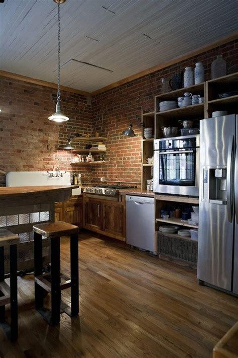 cuisine brique cuisine en brique et en 56 photos inspirantes