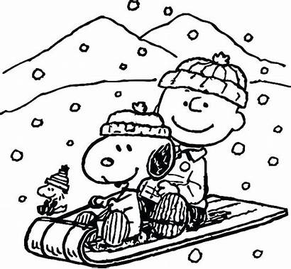 Coloring Pages Winter January Charlie Brown