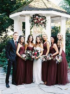 meghan joshua marsala and berry toned garden wedding in With wine color dress for wedding