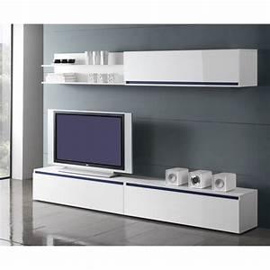 Tele Pas Cher 80 Cm : meuble tv bas long blanc ~ Teatrodelosmanantiales.com Idées de Décoration