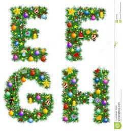 Christmas Tree Alphabet Letters