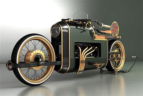 Steampunk Motorcycle : Mikhail Smolyanov's Arx-4 Steampunk Motorcycle