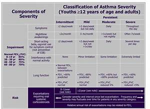 Asthma Classification And Treatment Chart Asthma Clinical Manifestations And Management The
