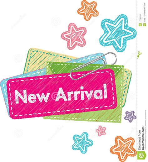New Arrival Label Stock Vector Image Of Clip, List